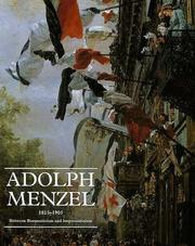 Cover of: Adolph Menzel, 1815-1905 |