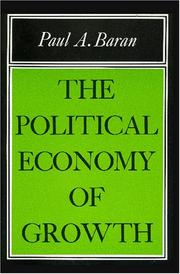 Cover of: The political economy of growth
