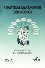 Cover of: Analytical Measurement Terminology | E. Prichard