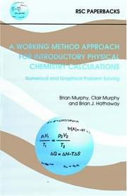 Cover of: PHYSICAL CHEMISTRY CALCULATION (RSC Paperbacks) | B. MURPHY