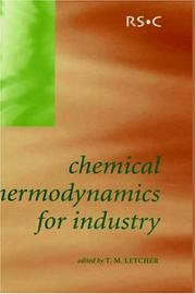 Cover of: Chemical Thermodynamics for Industry | T. Letcher