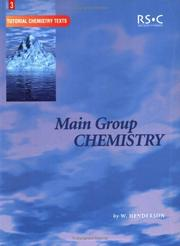 Cover of: Main Group Chemistry (Tutorial Chemistry Texts) | William Henderson