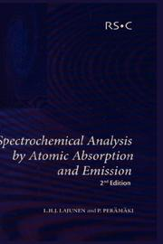 Cover of: Spectrochemical analysis by atomic absorption and emission | Lauri H. J Lajunen