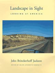 Cover of: Landscape in sight