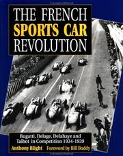 Cover of: The French Sports Car Revolution | Anthony Blight
