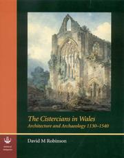 Cover of: The Cistercians in Wales | David M Robinson