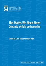 Cover of: The Maths We Need Now | Clare Tikly