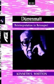 Cover of: Dürrenmatt | Whitton, Kenneth S.