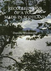 Cover of: Recollections of a tour made in Scotland