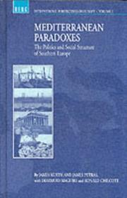 Cover of: Mediterranean Paradoxes | James Kurth