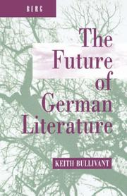 Cover of: The future of German literature