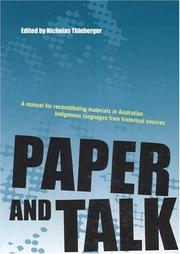 Cover of: Paper And Talk | Nicholas Thieberger