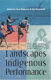 Cover of: Landscapes Of Indigenous Performance |