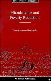 Cover of: Microfinance and poverty reduction