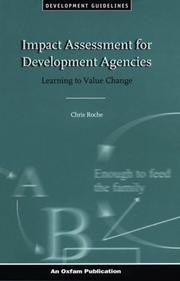 Cover of: Impact Assessment for Development Agencies | Chris Roche