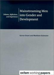Mainsteaming Men into Gender and Development