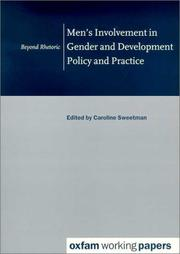 Cover of: Men's involvement in gender and development policy and practice