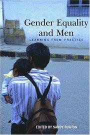 Cover of: Gender Equality and Men | Sandy Ruxton