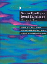 Cover of: Gender Equality and Sexual Exploitation | Andrew Baker