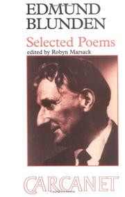 Cover of: Edmund Blunden