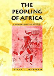 Cover of: The Peopling of Africa