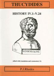 Cover of: Thucydides History Iv.1-V24 (Classical Texts)