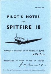 Cover of: Supermarine Spitfire 18 -Pilot