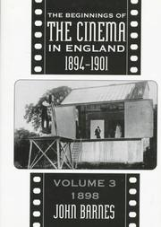 Cover of: The Beginnings of the Cinema in England 1894-1901
