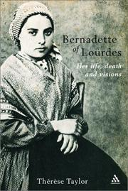 Cover of: Bernadette of Lourdes | Therese Taylor