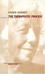 Cover of: The therapeutic process