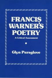 Cover of: Francis Warner