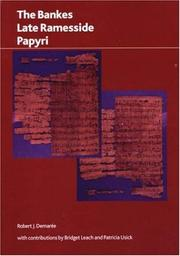 Cover of: The Bankes Late Ramesside Papyri (BMP Research Paper) (BMP Research Paper) | Robert J. Demaree