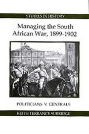 Cover of: Managing the South African war, 1899-1902