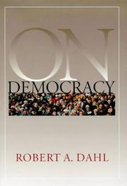 Cover of: On democracy