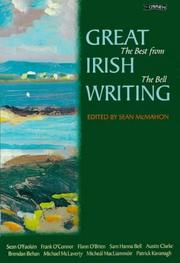Cover of: Great Irish Writing | Sean McMahon