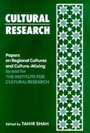 Cover of: Cultural Research: Papers on Regional Cultures and Culture-Mixing