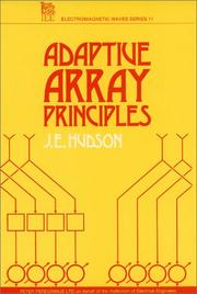 Cover of: Adaptive Array Principles (Ieee Electromagnetic Waves Series)