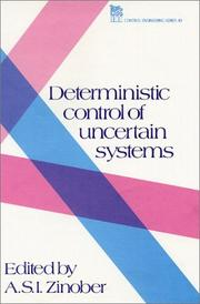 Cover of: Deterministic control of uncertain systems |