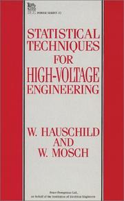 Cover of: Statistical techniques for high-voltage engineering | Wolfgang Hauschild