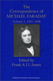 Cover of: The correspondence of Michael Faraday