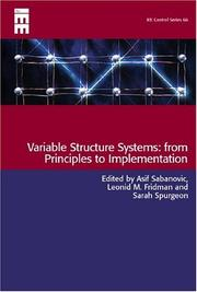Cover of: Variable structure systems |