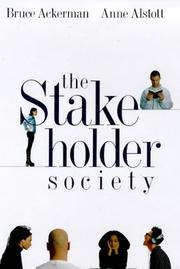 Cover of: The stakeholder society