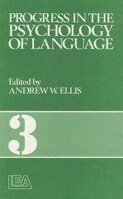 Cover of: Progress In The Psychology Of Language (Progress in the Psychology of Language)