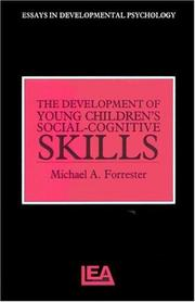 Cover of: The Development Of Young Children's Social-Cognitive Skills (Essays in Developmental Psychology)