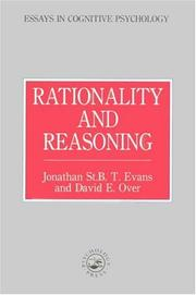 Cover of: Rationality and reasoning | Evans, Jonathan St. B. T.