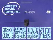 Cover of: The Category-Specific Names Test | Pat Mckenna