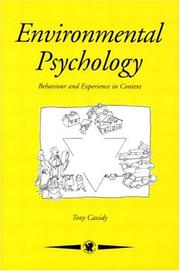 Cover of: Environmental psychology