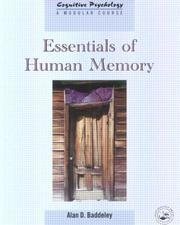 Cover of: Essentials Of Human Memory (Cognitive Psychology)
