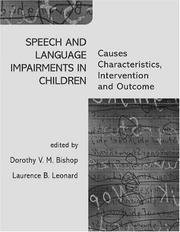 Cover of: Speech and language impairments in children