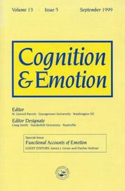 Cover of: Functional Accounts of Emotion | James J. Gross